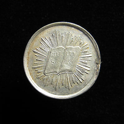 Reformation Medal 1828 Bern Switzerland 3rd Jubilee Silver Bible Whiting643 25mm