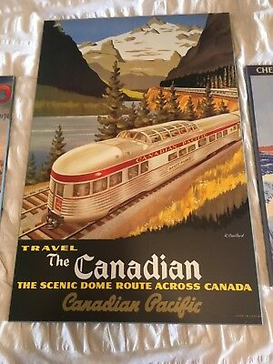TW37 Vintage Canadian Pacific Dome Route Railway Framed Travel Poster A3//A4