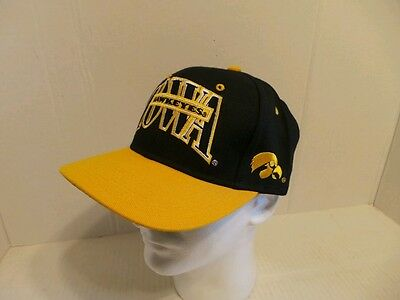 newest collection 3523d 92443 Black Gold University Of Iowa Hawkeyes Ball Cap Hat size 7 3 8