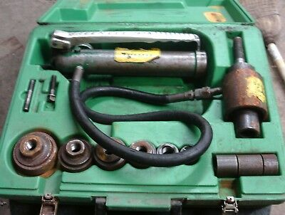"""Greenlee Tools 767Araulic Knockout Punch Driver Set Conduit 1/2""""-3"""""""