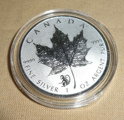 2016 1 oz Monkey Privy Canadian Silver Maple Leaf Reverse Proof Coin Capsule