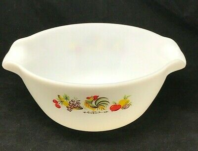 """Vintage Anchor Hocking Fire King Chanticleer 10"""" 3 qt Rooster Mixing Bowl 2"""