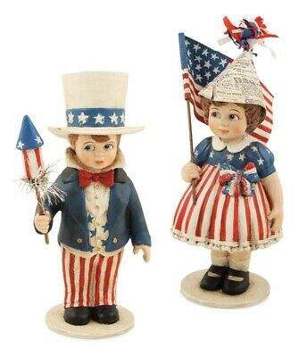 Bethany Lowe Americana Drums 4th Of July~ Set Of 3!