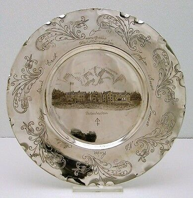 Swedish Solid Silver Serving Serving Tray Charger Brannbacken Finland 1909-49