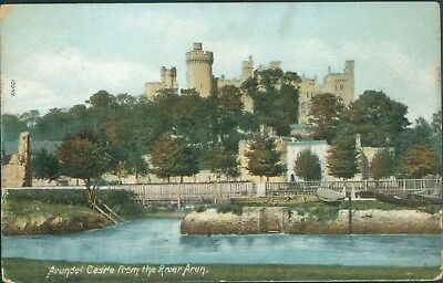Arundel castle from arun; 1906