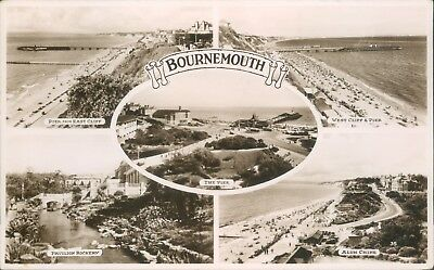 Bournemouth; 5 views; 1950; real photo wade's sunny south