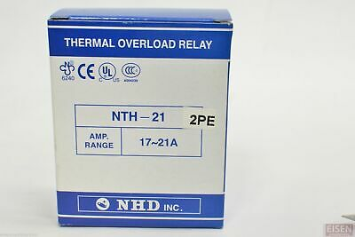 NHD Thermal Overload Relay NTH-21 2PE,  17 ~ 21 Amp