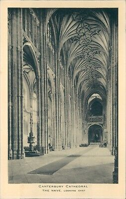 Canterbury Cathedral Nave east; Tucks