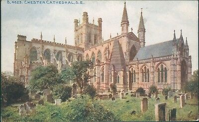 Chester cathedral; photochrom