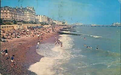 eastbourne; grand parade beach; 1974