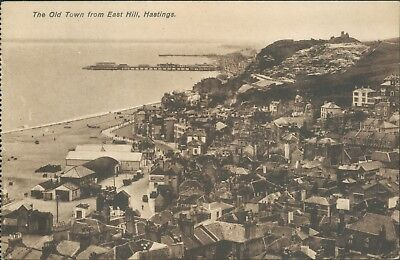 Hastings; Old town from east hill
