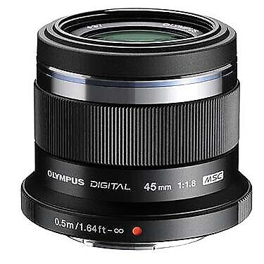 Olympus 45mm F1.8 M.Zuiko Digital Pen  Lens for Micro Four Thirds (Black) V31103