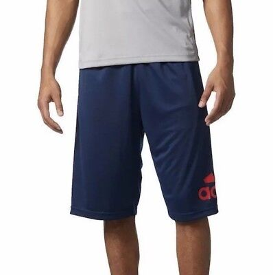 NWT Adidas Shorts Basketball Crazylight Navy Blue & Red Graphic Mens Size Small