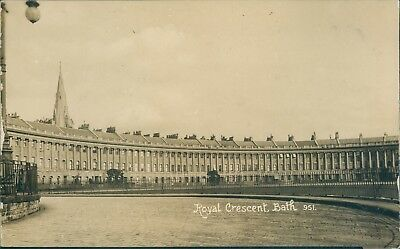 real photo; Bath; royal crescent