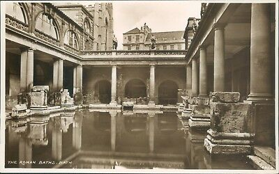real photo; Bath; roman baths