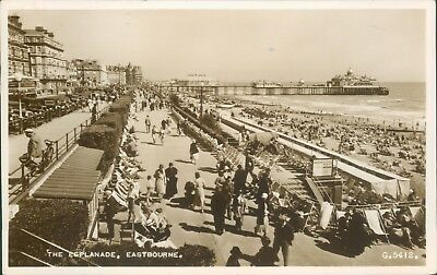 real photo; Eastbourne espalande; 1954