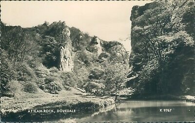 Real photograph; Dovedale Ilam rock
