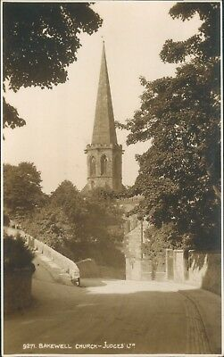 Real photograph; Bakewell church; judges