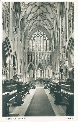 real photo; Wells cathedral choir