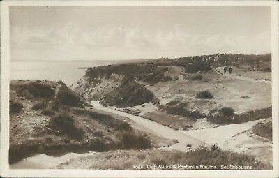 Southbourne; cliff walks & porman ravine; real photo