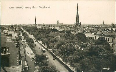 Southport; Lord street looking east; Valentine 1919