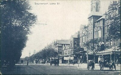 Southport; Lord street; Photochrom wedgwood