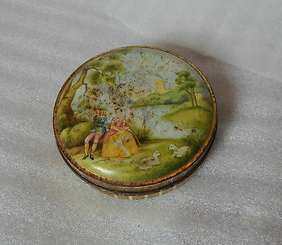 vintage george W Horner Sweet tin country scene 10cm diameter.