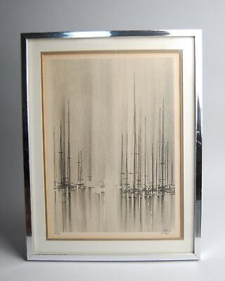 Richard Florsheim Lithograph Signed Limited Edition - Masts and Spars - Framed
