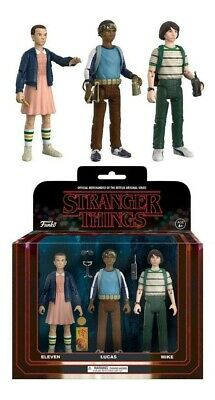 Stranger Things ReAction Action Figures 3-Pack Mike, Eleven & Lukas 8 cm Funko N