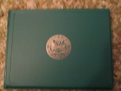 Army Certificate Award holder folder with Army Emblem on front
