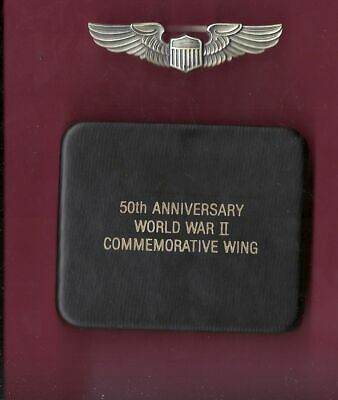 WWII Pilot Wings in case box 50th Anniversary WW2