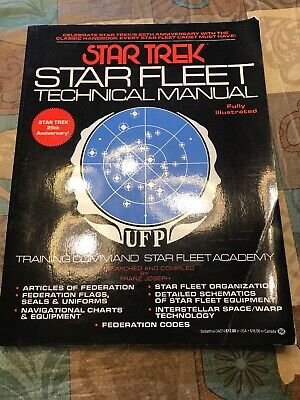 Star Trek Star Fleet Technical Manual 25th Anniversary Training Command Academy