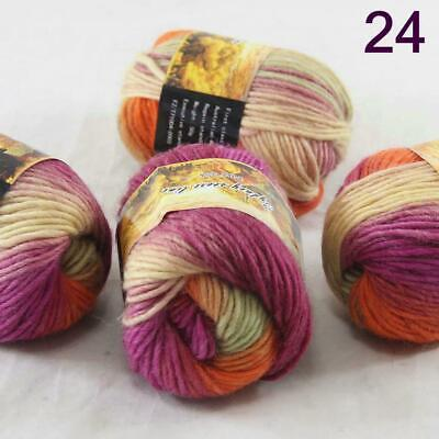 Sale Lot of 4 Balls NEW Knitting Yarn Chunky Hand-woven Colorful Wool scarves 13