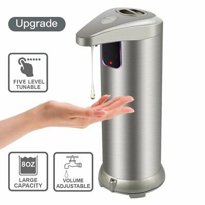 KCASA Touchless Automatic Stainless Steel Hand Free Sensor Soap Liquid Dispenser