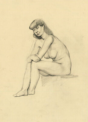Peter Collins ARCA - c.1970s Graphite Drawing, Fine Nude Study