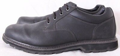 TIMBERLAND ORTHOLITE TECTUFF Black Leather Plain Toe Lace Up Oxford Men's US 14