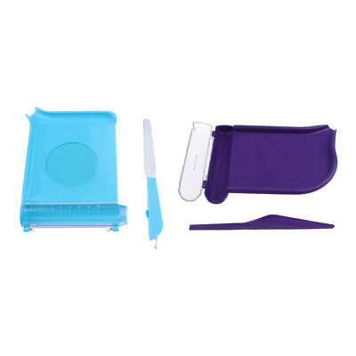 Pill Counting Tray with Spatula Pill Dispenser Counting Non-skid Purple Blue