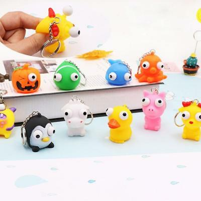 Keyring Cute Animal Squeeze Toy Eyes Doll Stress Relief Keychain Low Price