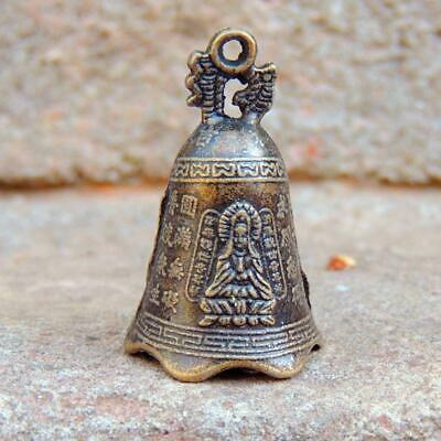 China's Mini Brass Copper Sculpture Pray Buddha Feng shui bell 48*30mm Low Price