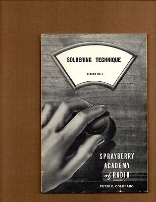 3 Vintage 1940's Sprayberry Academy of Radio Repair Course Booklets