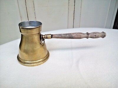 Middle Eastern Brass Antique Coffee Maker Vintage Old Retro Nice Copper Pot