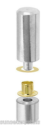 Metal Complex Eyelets with Setter - Gold - Perfect for Leather Accessories