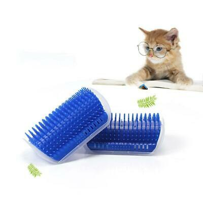 Pet Cat Self Groomer Brush Wall Corner Grooming Massage Comb With Catnip Care