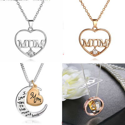 Mum Gold Crystal Necklace & Pendant NEW* Birthday Christmas Mothers Day Gifts