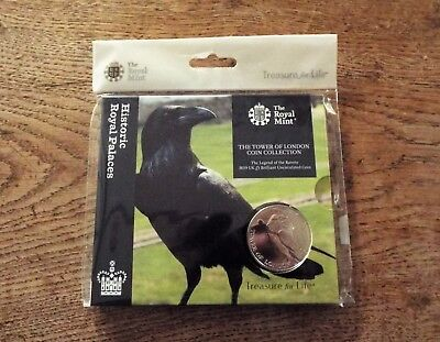 2019 - £5 - Tower of London - Legend of the Raven - Brilliant Uncirculated Coin