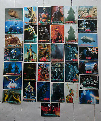 1995 Godzilla Trading Card Made in Japan Lot of 35, Mothra Gigan Battra Garuda