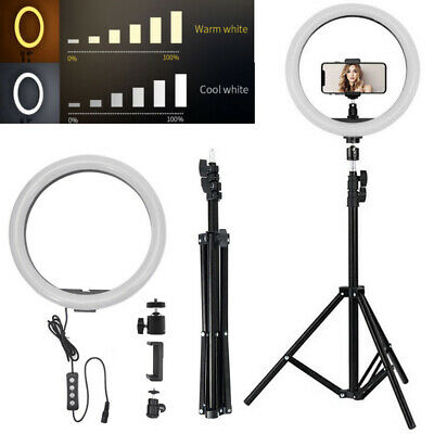 """12"""" Dimmable LED Ring Light Photo Studio Lamp Light Stand Kit For Camera & Phone"""