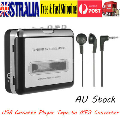 Portable USB Cassette Player Tape to MP3 Converter Adapter Audio Tape Player VIC