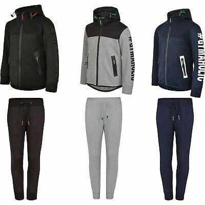 Kids Ripple Panel Tracksuit Girls Boys Trousers Neon Details Hooded Top 3-14 Y