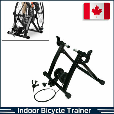 Folding Magnetic Bike Bicycle Trainer Stand Indoor Cycling w/7 Level Resistance
